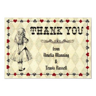 Alice in Wonderland Thank You Card - Wedding