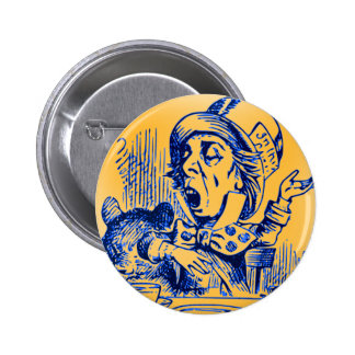 Alice in Wonderland - The Mad Hatter Button
