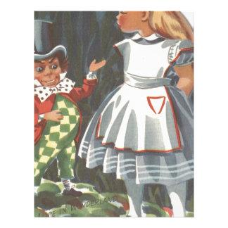 Alice in Wonderland & The Mad Hatter Letterhead