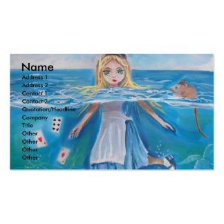Alice in Wonderland the pool of tears by G Bruce Business Card