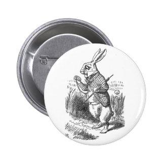 Alice in Wonderland the White Rabbit vintage 2 Inch Round Button