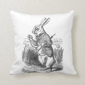 Alice in Wonderland the White Rabbit vintage Throw Pillow