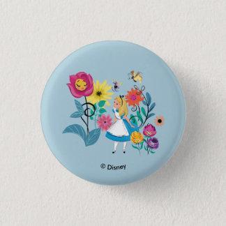 Alice in Wonderland | The Wonderland Flowers 1 Inch Round Button