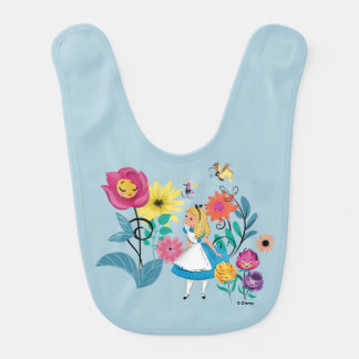 Alice in Wonderland | The Wonderland Flowers Bib