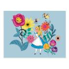 Alice in Wonderland   The Wonderland Flowers Postcard