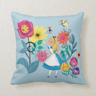 Alice in Wonderland | The Wonderland Flowers Throw Pillow