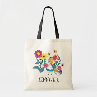 Alice in Wonderland | The Wonderland Flowers Tote Bag