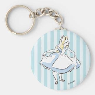 Alice in Wonderland | This Way to Wonderland Basic Round Button Keychain