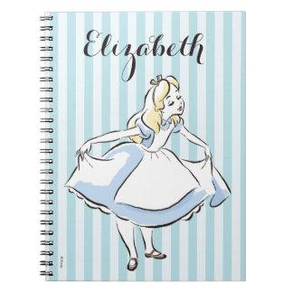 Alice in Wonderland | This Way to Wonderland Spiral Note Book