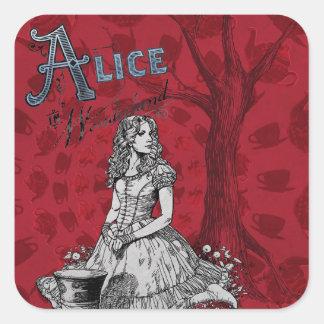Alice in Wonderland - Tim Burton Square Sticker