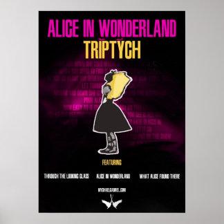 """""""Alice In Wonderland: Triptych"""" Poster"""