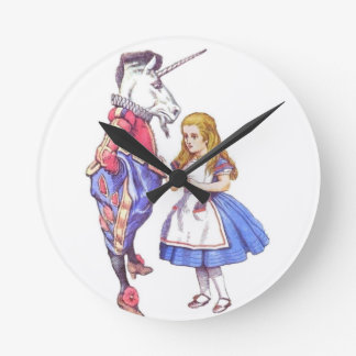 Alice in Wonderland & Unicorn Clock