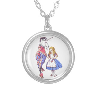 Alice in Wonderland & Unicorn pendant necklace