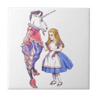 Alice in Wonderland & Unicorn Tile