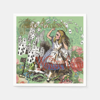 Alice in Wonderland Vintage Card party Paper Napkins