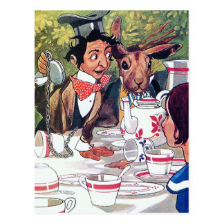 Alice in Wonderland Vintage Illustration Postcard