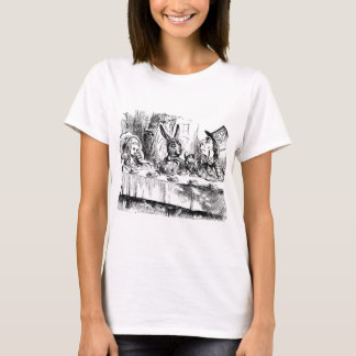 Alice in Wonderland vintage print tshirt - tea tim