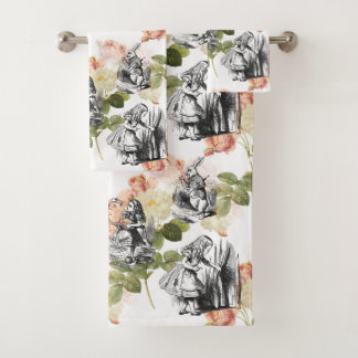 Alice in Wonderland Vintage Roses Towel Set