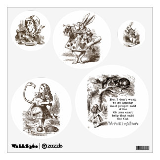 Alice in Wonderland / Vintage Sepia Set Wall Decal