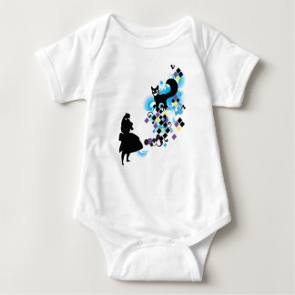 ALICE in WONDERLAND w/Cheshire Baby Bodysuit