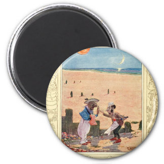Alice in Wonderland, Walrus and Carpenter 2 Inch Round Magnet