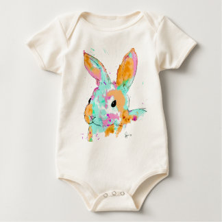 Alice in Wonderland water colour designs Baby Bodysuit