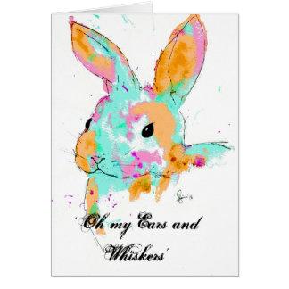 Alice in Wonderland water colour designs Card