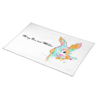 Alice in Wonderland water colour designs Placemat