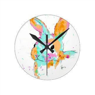 Alice in Wonderland water colour designs Round Clock