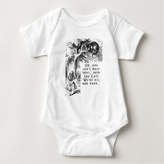 Alice in Wonderland - We're all mad here Baby Bodysuit