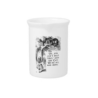 Alice in Wonderland - We're all mad here Drink Pitcher