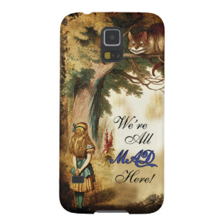 Alice in Wonderland Were All Mad Here Galaxy S5 Cases