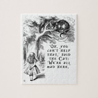 Alice in Wonderland - We're all mad here Jigsaw Puzzle