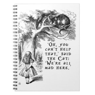 Alice in Wonderland - We're all mad here Note Books