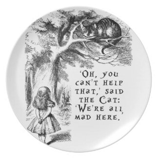 Alice in Wonderland - We're all mad here Party Plate