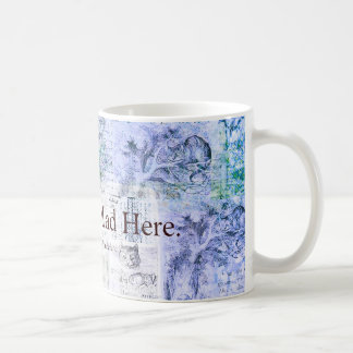 Alice in Wonderland  We're all mad here quote Classic White Coffee Mug