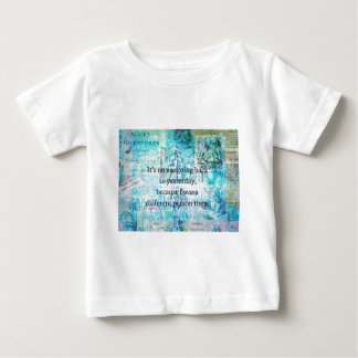 Alice in wonderland whimsical quote baby T-Shirt