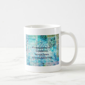Alice in wonderland whimsical quote coffee mug
