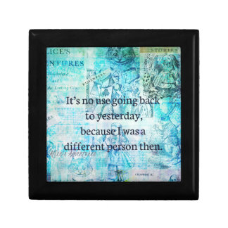 Alice in wonderland whimsical quote gift box