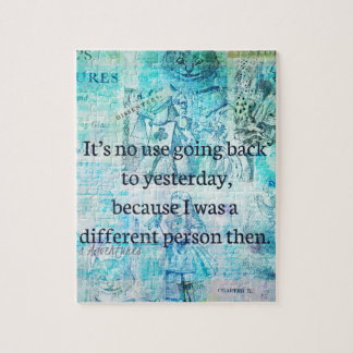 Alice in wonderland whimsical quote jigsaw puzzle