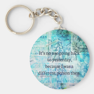 Alice in wonderland whimsical quote keychain