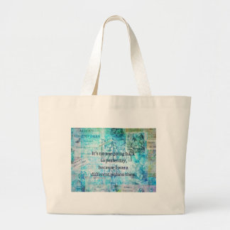 Alice in wonderland whimsical quote large tote bag