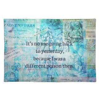 Alice in wonderland whimsical quote placemat