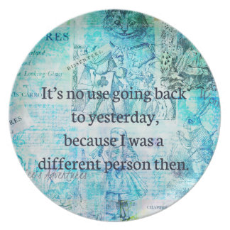 Alice in wonderland whimsical quote plate