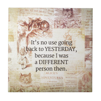 Alice in Wonderland Whimsical Quote Tile