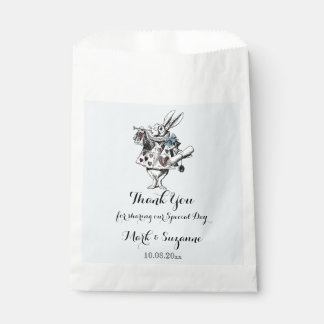 Alice in Wonderland White Rabbit Art Favour Bag