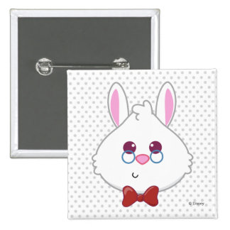 Alice in Wonderland | White Rabbit Emoji 2 Inch Square Button