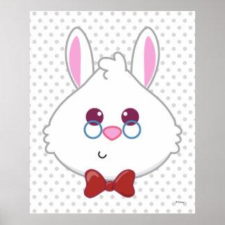 Alice in Wonderland | White Rabbit Emoji 3 Poster