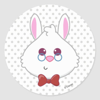 Alice in Wonderland | White Rabbit Emoji Classic Round Sticker