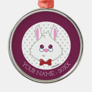Alice in Wonderland | White Rabbit Emoji Silver-Colored Round Ornament